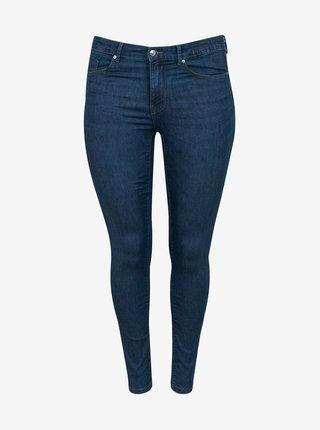 Modré skinny fit džíny ONLY CARMAKOMA Hiris