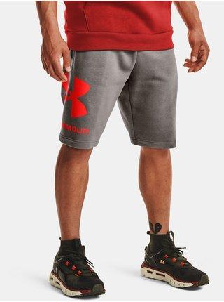 Kraťasy Under Armour Rival FLC Big Logo Shorts - šedá