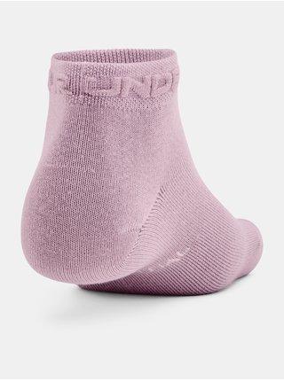 Ponožky Under Armour UA Essential Low Cut 3Pk - růžová