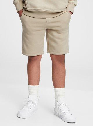 Béžové klučičí dětské kraťasy fleece pull-on shorts GAP