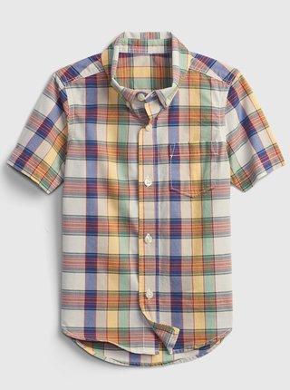 Hnědá klučičí dětská košile poplin shirt GAP
