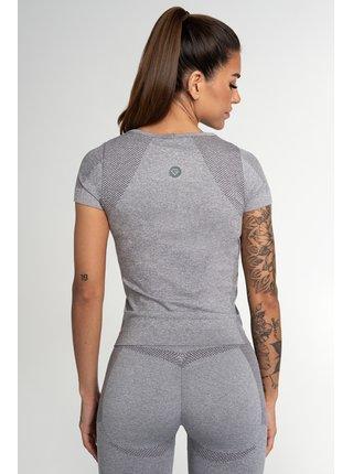 Tričko Gym Glamour Bezešvé Fusion Light Grey