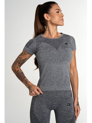Tričko Gym Glamour Bezešvé Fusion Dark Grey