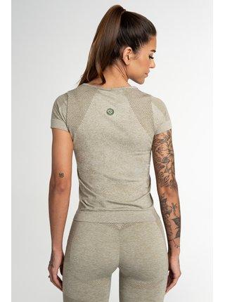 Tričko Gym Glamour Bezešvé Fusion Khaki
