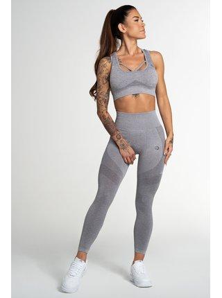 Legíny Gym Glamour Bezešvé Fusion Light Grey