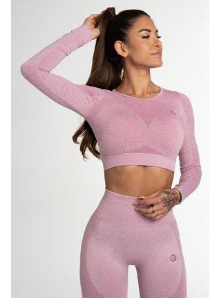 Crop Top Gym Glamour Bezešvý Fusion Pink