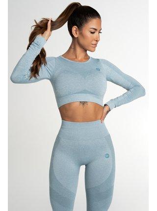 Crop Top Gym Glamour Bezešvý Fusion Blue
