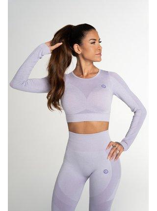 Crop Top Gym Glamour Bezešvý Fusion Lavender