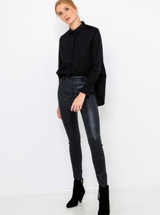 Černé koženkové kalhoty CAMAIEU