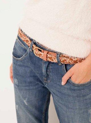 Béžový pletený pásek CAMAIEU