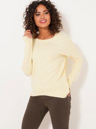 Světle žlutý svetr CAMAIEU