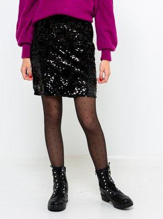 Černá sukně s flitrama CAMAIEU