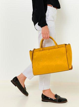 Hořčicová kabelka v semišové úpravě CAMAIEU