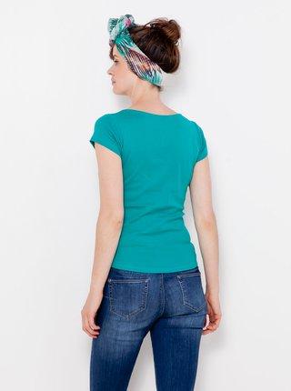 Topy a tričká pre ženy CAMAIEU - petrolejová