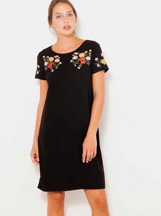 Černé šaty s výšivkou CAMAIEU
