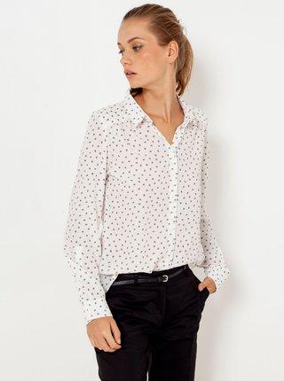Biela vzorovaná košeľa CAMAIEU