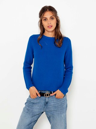 Tmavě modrý basic svetr CAMAIEU
