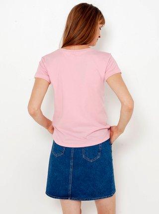Modrá džínová sukně s lampasem CAMAIEU