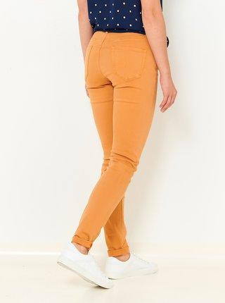 Hořčicové slim fit džíny CAMAIEU