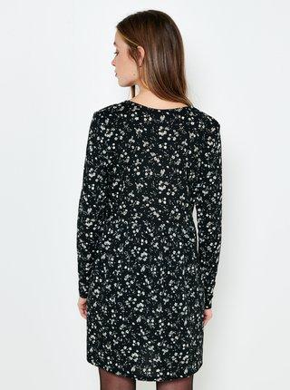 Čierne kvetované košeľové šaty CAMAIEU