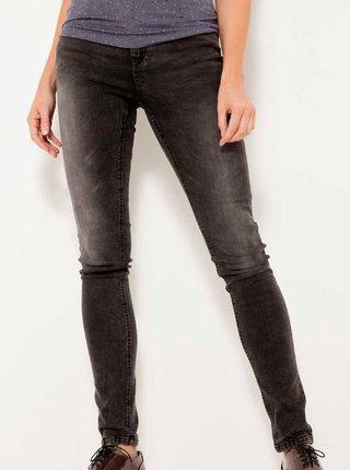 Tmavě šedé skinny fit džíny CAMAIEU