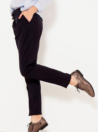 Černé puntíkované kalhoty CAMAIEU