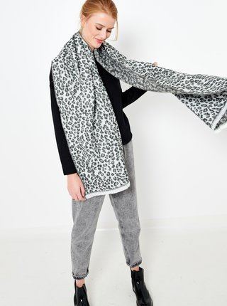Šedá šála s gepardím vzorem CAMAIEU
