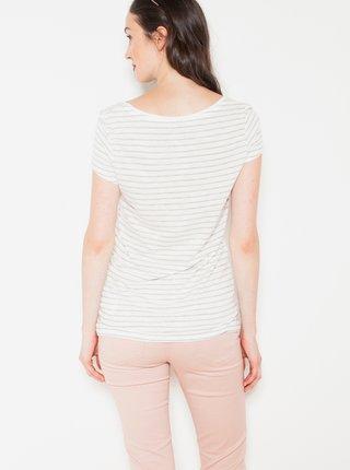 Biele pruhované tričko CAMAIEU