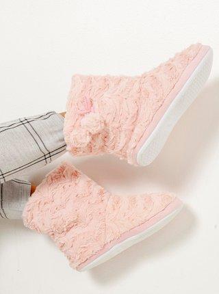 Světle růžové papuče CAMAIEU