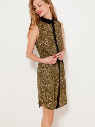 Šaty ve zlaté barvě CAMAIEU