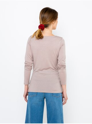 Světle fialové tričko s krajkou CAMAIEU