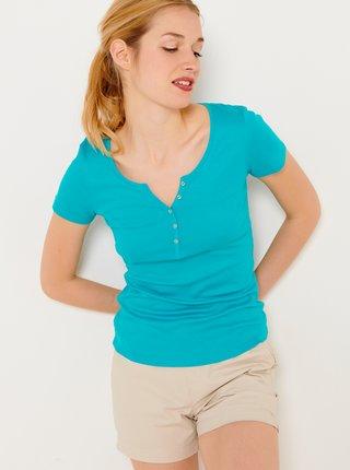 Tričká s krátkym rukávom pre ženy CAMAIEU - modrá