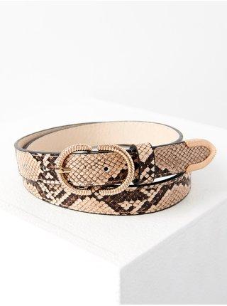 Světle hnědý pásek s hadím vzorem CAMAIEU
