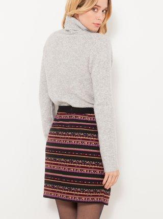 Fialovo-černá pruhovaná sukně CAMAIEU
