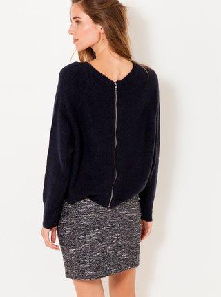 Čierny sveter s nápisom CAMAIEU