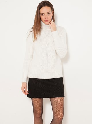 Bílý svetr s rolákem CAMAIEU
