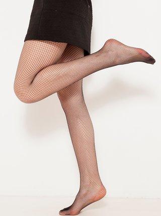 Černé síťované punčochové kalhoty CAMAIEU