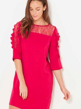 Červené šaty s krajkou CAMAIEU