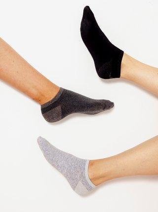 Ponožky pre ženy CAMAIEU - čierna, tmavosivá, svetlosivá