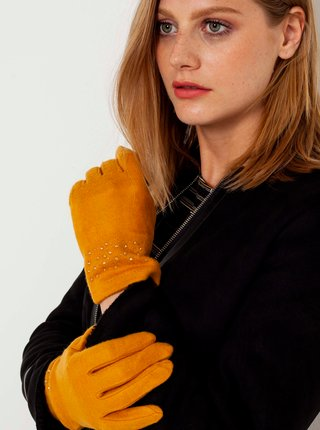 Rukavice pre ženy CAMAIEU - oranžová