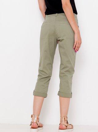 Khaki tříčtvrteční kalhoty CAMAIEU