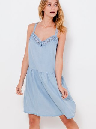 Letné a plážové šaty pre ženy CAMAIEU - svetlomodrá