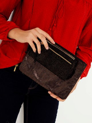 Sada peněženky a kabelky v černé barvě CAMAIEU