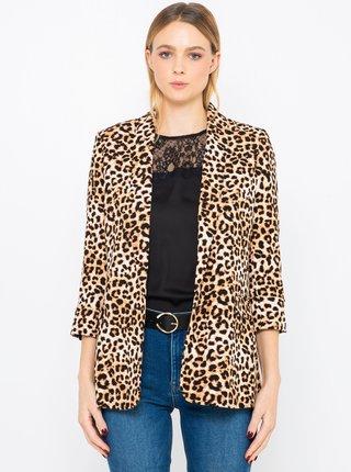 Hnědé sako s leopardím vzorem CAMAIEU