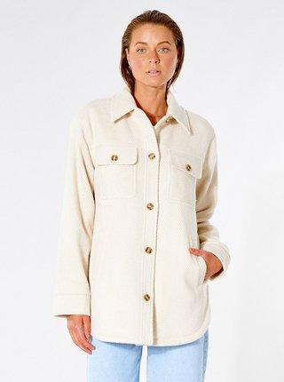 Krémová dámská bunda s kapsami Rip Curl