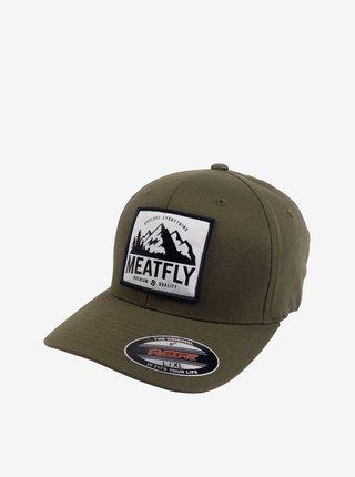Khaki pánská kšiltovka s nášivkou Meatfly Raptor