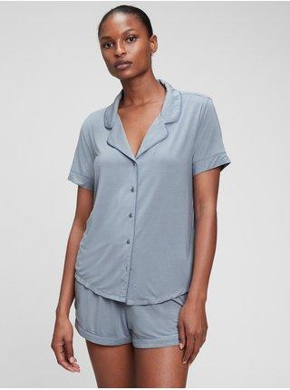 Šedé dámské pyžamo Krátké z modal