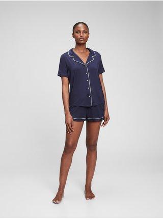 Modré dámské pyžamo Krátké z modal