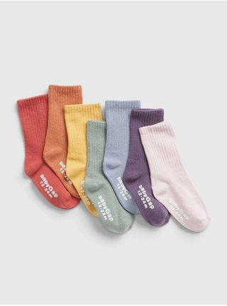 Barevné holčičí ponožky, 7ks