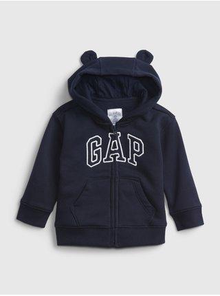 Modrá klučičí mikina GAP logo fleece